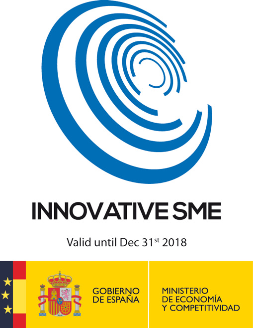 INNOVATIVE PYME seal from the Ministry of Economy and Competitiveness of the Government of Spain