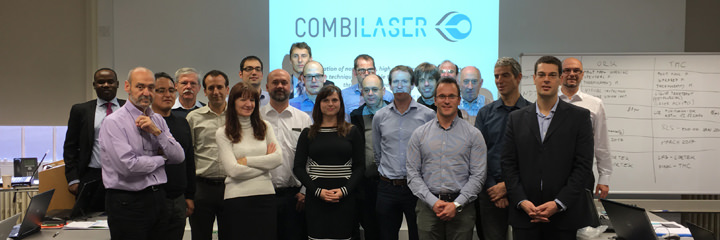 COMBILASER team during the meeting in the University of Sheffield.