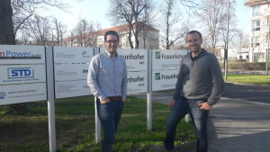 Eloi Font and Jaume Nin on the Frauhofer facilities.